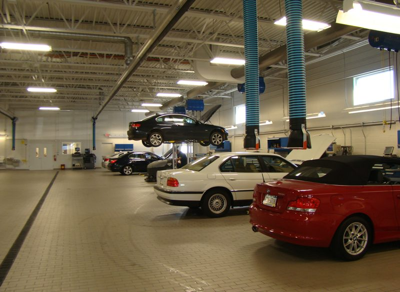 Dealership automotive garage