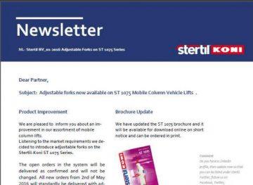 Stertil-Koni Newsletter
